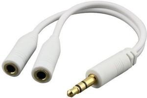Storite Jack Splitter White AUX Cable(White)