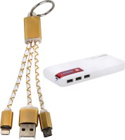 Orbatt X7 Fast Charging with 2in1 Small Cable 11000 mAh Power Bank(Red, White, Gold, Lithium-ion)