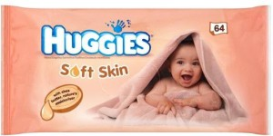 Huggies Wipes 64Pc - Soft Skin(64 Pieces)