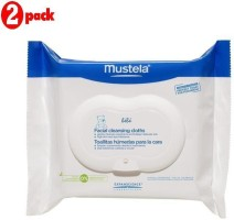 Mustela Facial Cleansing Cloths - 25Pk (Pack of 2)(50 Pieces)