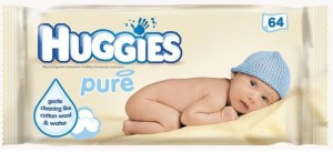 Huggies Wipes 64Pc - Pure(64 Pieces)