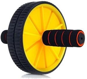 Strauss Double Exercise Wheel (Yellow/Black) Ab Exerciser