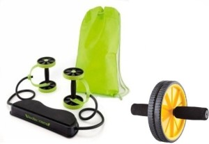 MSE Combo of Revoflex Xtream Six Pack builder & Yellow Roller-WT05 Ab Exerciser
