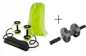 Elite Mkt Elite Mkt Revoflex Xtreme Resistance Extreme Slimming Workout Rubber Bands With Power Strech Roller Wheel With Bodi Pro Roller And Clipholder Ab Exerciser Ab Exerciser