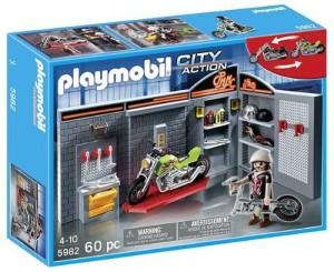 Playmobil 5982 Motor Bike Garage Shop Multicolor Best Price In India