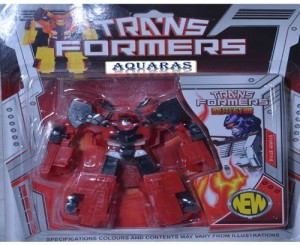 Aquaras Transformer From Robot To Car Toy Red Red Black Best Price