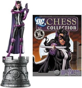 Eaglemoss Publications Batman Huntress White Rook Chess Piece With  MagazineMulticolor