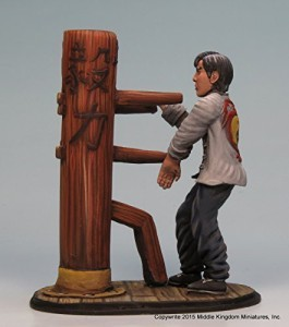 Middle Kingdom Miniatures (MKM) Wing Chun Wooden Dummy Fine Pewter Vignette  (Antique Finish)Multicolor