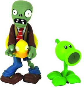 Plants vs Zombies figures 3'' Ducky Zombie with PeashooterMulticolor