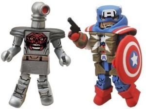 Diamond Select Minimates Marvel Series 54 Fighting Chance Captain  AmericaMulticolor