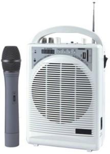 Medha Portable Wireless Rechargeable PA System with inbuilt Speaker & Mic + USB Player & FM 20 W AV Power Amplifier