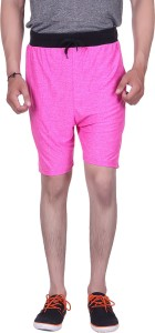 Gag Wear Solid Men's Pink Gym Shorts