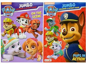 Paw Patrol Jumbo Coloring And Activity Book Set Of 2