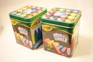 hallmark crayola washable sidewalk chalk metal tin box best price in