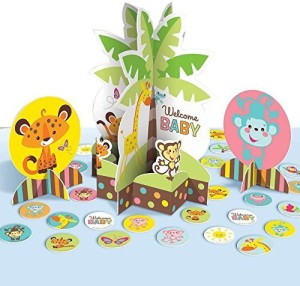 Amscan Adorable Fisher Price Baby Shower Table Party Decorating Kit
