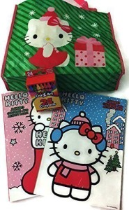 Hello Kitty Christmas.Mixed Hello Kitty Christmas Re Usable Tote Bag With 2 Christmas Jumbo Coloring And Activity Books And Crayons