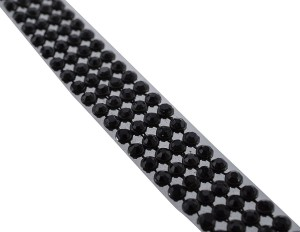 4ce2282217ce AM Stone lace Black 4-line full length 1.25 meters for bangles jewellery  decoration