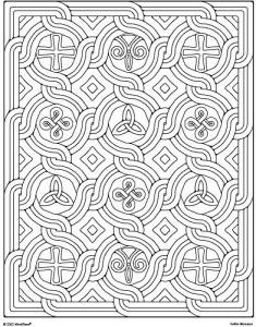Mind Ware Celtic Mosaic Coloring Book 23 Unique Designs Teaches ...