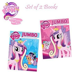 Hasbro My Little Pony Coloring And Activity Book Set Featuring ...