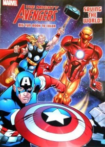 Marvel Marvel The Avengers Heroes Coloring Book Set