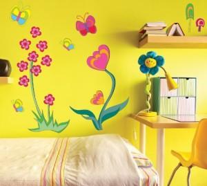 Funtosee Funky Flower Girls Nursery And Bedroom Wall Decals Flower