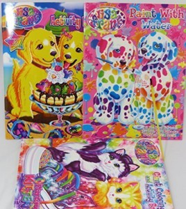 Lisa Frank Coloring Book Activity Book And Water Coloring Book Set