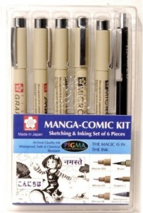 Sakura Sketching & Inking Set of 6 Pieces Pens
