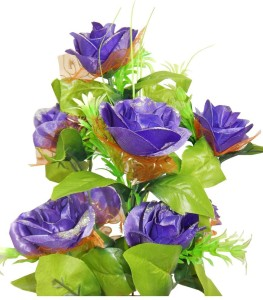 rz best flower latest best blue green rose artificial flower 25 inch