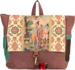 The House of Tara Canvas Ethnic Art Bag 10 L Medium Backpack