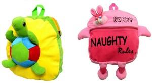 Pandora Kids School Bag - 2 Pack of Pink Naughty and Tortoise 5 L Backpack