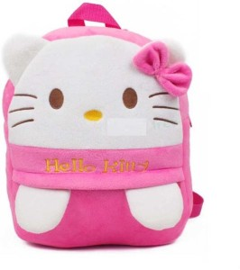 Royle Katoch HELLO KITTY SMALL BABY PLUSH SCHOOL BAG With Adorable Cartoon Character 12 L Backpack