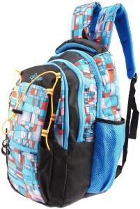 Gleam Trendy Multicolour School & College Bag (Sky Blue & Black) 30 L Backpack