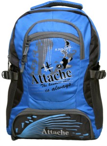 Attache Rocking School Bag (Sky Blue & Grey) 30 L Backpack