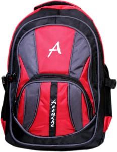 Attache Attache Premium School Bag / Laptop Bag (Red & Black) 30 L Backpack