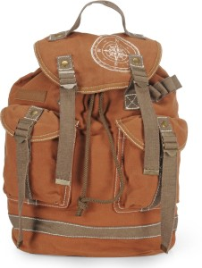 The House of Tara Wax Coated Cotton Canvas 27 L Backpack