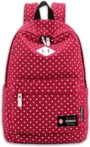 Bonmaro Polka Dots Red 24 L Backpack