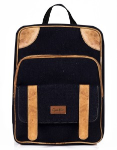 3c946d9d4d Goatter Goatter Genuine Leather And Denim Material 20 L Laptop Backpack