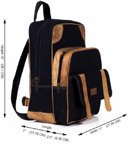 9e75020658 Goatter Goatter Genuine Leather And Denim Material 20 L Laptop Backpack  Blue Best Price in India