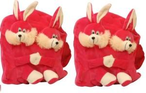 Pandora Kids School Bag - 2 Pack of Pink Double Face Rabit 5 L Backpack
