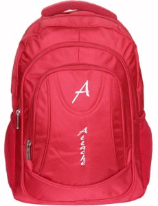 Attache Premium School / Laptop Bag (Red) 30 L Backpack