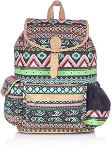 Shaun Design Aztec Print with Laptop Protection 12 L Large Backpack