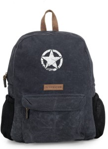The House of Tara Rugged Distressed Canvas 18 L Laptop Backpack