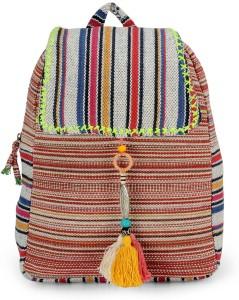 The House of Tara Ethnic Handloom Fabric 10 L Backpack