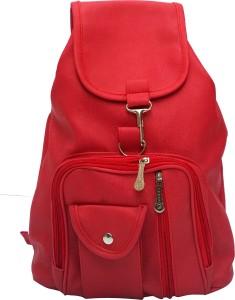 6058240fa09 Vintage Stylish Ladies Expandable Backpack Handbag Red(bag 124) 2.5 L  Backpack