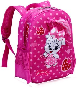 adef2ded3b T-Bags Kitty With Umbrella Waterproof School Bag ( Pink 13 inch )