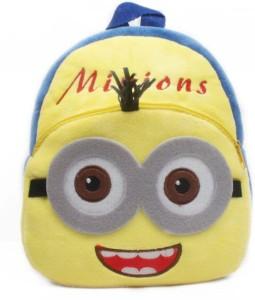 Kuhu Creations Despicable Me Minions Double Eye Style Baby Mini cartoon School Bag