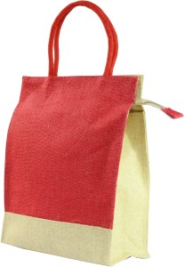 Ashvah Red Jute Lunch Bag