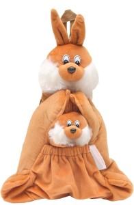 Bazaar Pirates Kangaroo Shape Soft Toy Picnic Bag Cum Kids Plush Backpack