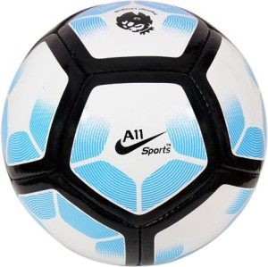 A11 Sports White Blue Pitch Football -   Size: 5