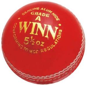CW Winn Leather Cricket Ball -   Size: Full Size